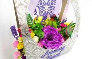 Foamiran flower bag