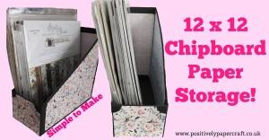 chipboard handmade paper storage unit,