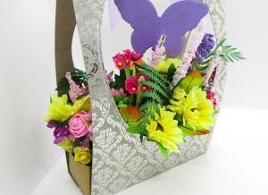 Fake flower gift bag