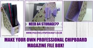 A4 box file tutorial positivelypapercraft