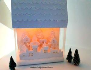 Positivelypapercraft Christmas Village
