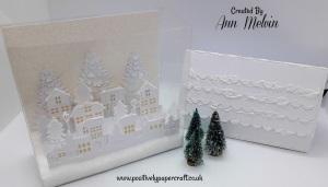 Acetate Christmas village box. Positivelypapercraft Tutorial