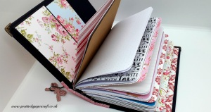 Easy travellers notebook with inserts, Positivelypapercraft travellers notebook