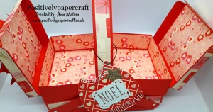 Positively papercraft box tutorial, Cantilever box,